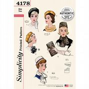4178 Simplicity Pattern: Vintage 1960's Hats